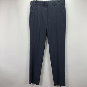 Michael Kors Mens Flat Front Polyester Blend Pants